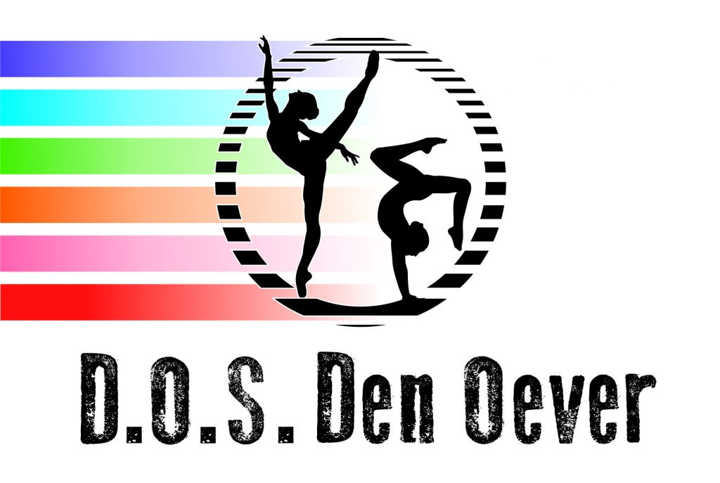 Logo D.O.S. Den Oever, elke kleur staat voor een groep binnen onze club :)